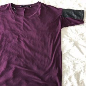 Ivanka Trump Purple Blouse Detailed Sleeve Size S